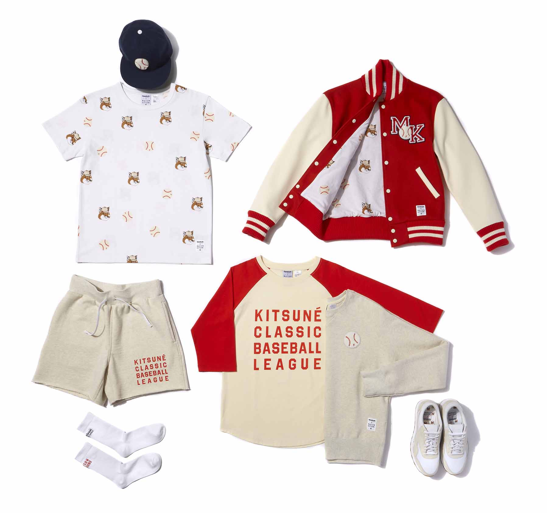"REEBOK CLASSIC ET MAISON KITSUNÉ DÉVOILENT LEUR COLLECTION ""BASEBALL LEAGUE"""
