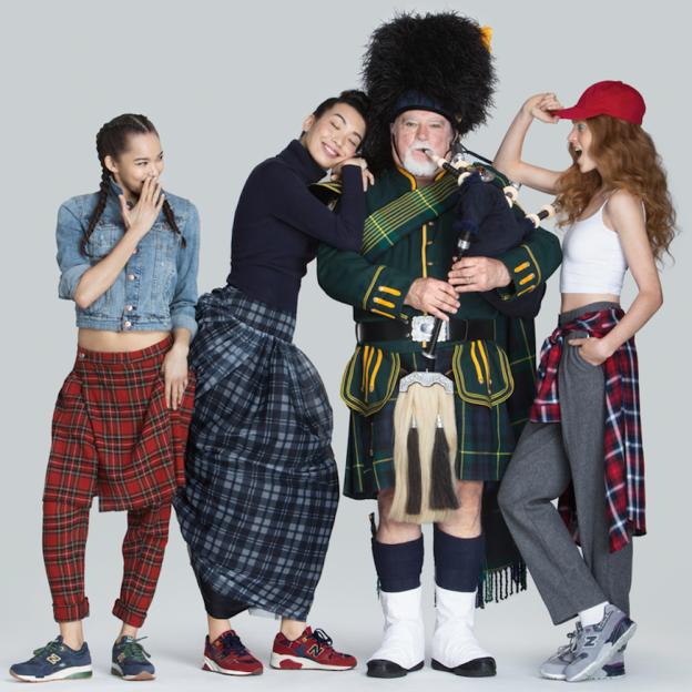 New Balance présente sa nouvelle collection Femme en tartan,