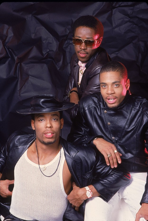 "NEW YORK - 1987: Hip hop group ""Whodini"" pose for a 1987 portrait in New York City, New York. (Photo by Michael Ochs Archives/Getty Images)"