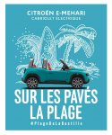 #CITROËN FÊTE LE LANCEMENT DE E-MEHARI EN INVITANT LES PARISIENS À LA PLAGE… DE LA #BASTILLE !