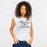 arrive_dans_2_minutes_PROMIS_T-shirt_blanc_femme_coton_bio_manches_courtes_1200px