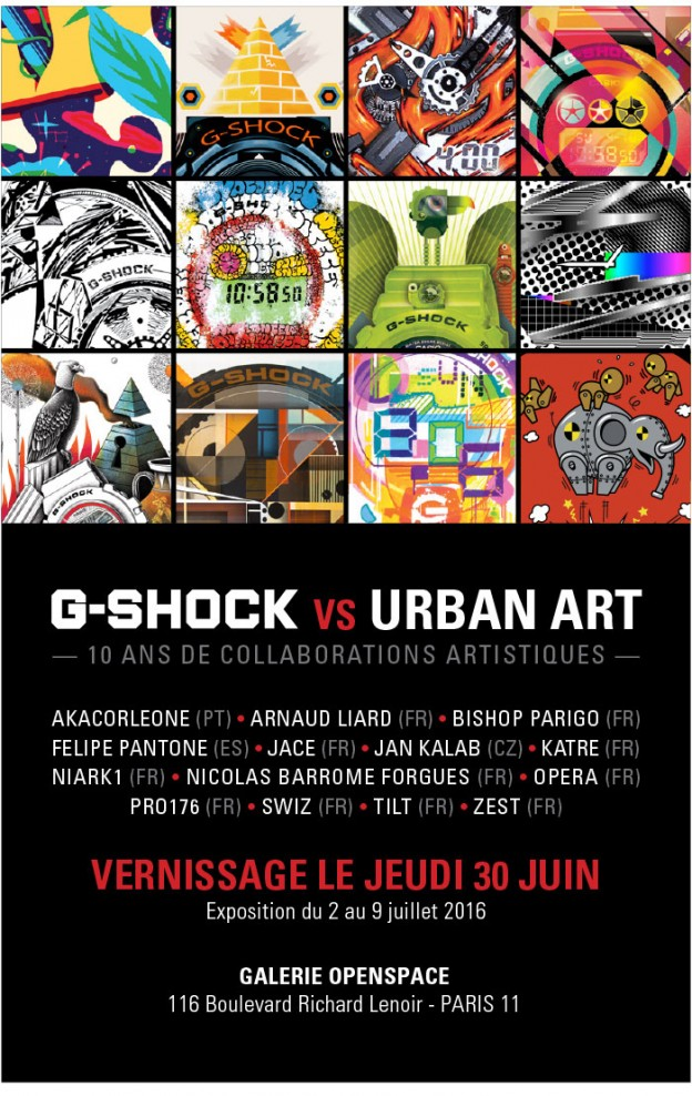 G-Shock vs Urban art