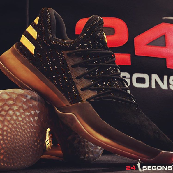 adidas Harden Vol 1 Black/Gold // Preview