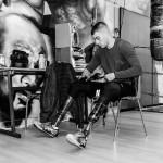Ludo:  Tee Zanerobe  Short Brandblack  Chaussures Asics
