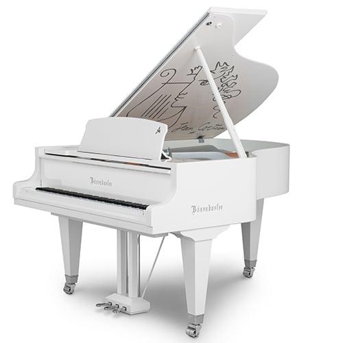 Bösendorfer présente son nouveau piano en édition limitée  Jean Cocteau en finition blanche laquée