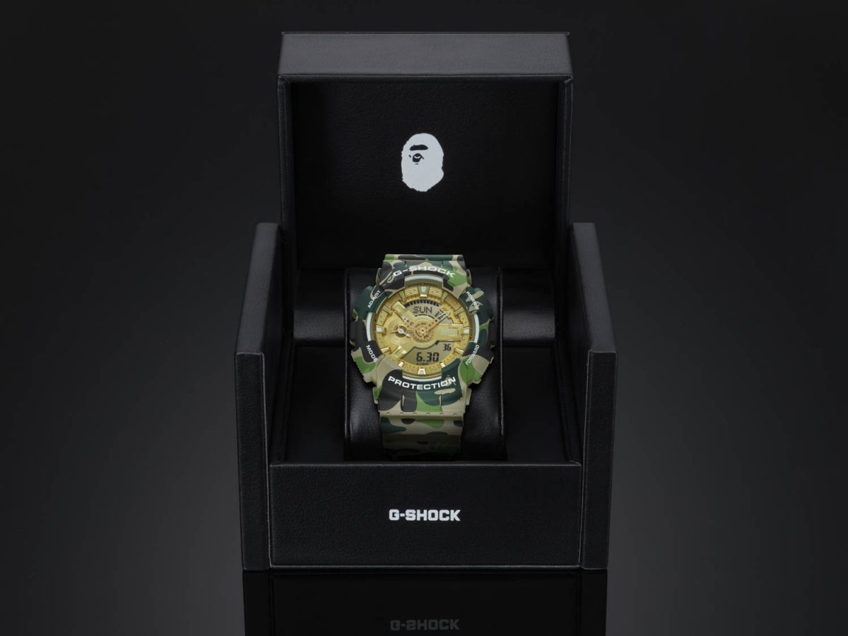Collaboration G-SHOCK x A BATHING APE